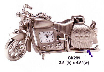 Platinum miniature clocks transportation - Motorcycle cuckoo clock ...